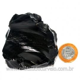 Obsidiana Negra Mineral Vulcanico Pedra Natural Cod 123972