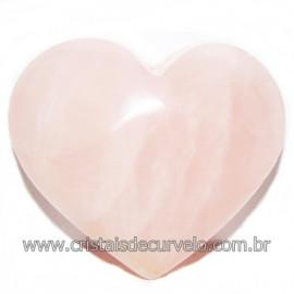 Coração Pedra Quartzo Rosa Natural Pedra do Amor Cod 116213