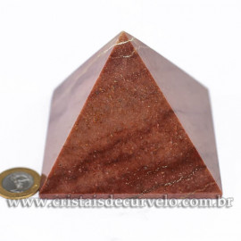 Pirâmide GRANDE Pedra Quartzo Vermelho Natural Queops cod 120726