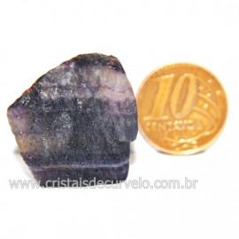 Fluorita Multicor Natural Bruto Para Colecionador Cod 127577