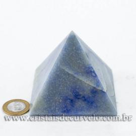 Pirâmide GRANDE Pedra Quartzo Azul Natural Queops cod 120748