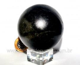 Esfera Basalto Preto Pedra Natural de Garimpo Com Lapidação Manual Cod 413.2