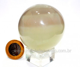 Esfera ou Bola Fluorita Multicolor Pedra Natural Cod BF4165