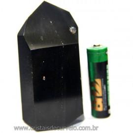 Ponta Obsidiana Negra Mineral Vulcânico Natural Cod 101299