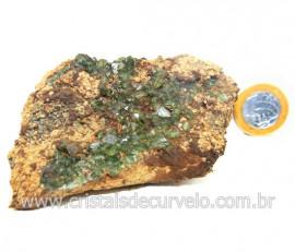 Ludlamita Pedra Matriz Siderita Bruta Natural Coleção Cod 127876