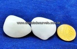 02 Quartzo Leitoso Rolado Unidade Pedra Natural Cristal Rocha de Garimpo Cod 30.5