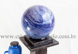 Bola Grande 20Kg Quartzo Azul Aventurina Natural Cod 109166