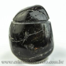 Pingente Pedra Rolada Turmalina Preta Difusor Aromaterapia