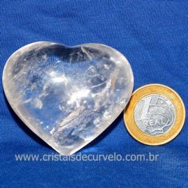 Coração Cristal Comum Qualidade Natural Garimpo Cod 126248