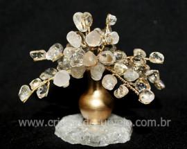 Arvore Da Felicidade Pedra Rolada Quartzo Cristal REFF AJ5279