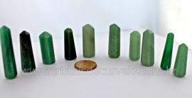 100 Pontinha Gerador Quartzo Verde ou Aventurina Verde Lapidado Tamanho 2.5 Cm