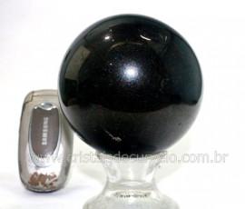 Esfera Pedra Quartzo Preto ou Quartzito Natural Cod BG7281