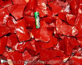 20kg Cascalho Jaspe Vermelho Bruto Para Orgonite Reff 125253