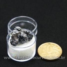 Obsidiana Flocos de Neve Pedra Natural Amostra Estojo Cod 126979