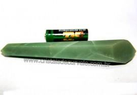Bi Terminado Quartzo Verde Pedra Natural Lapidado Cod 101880