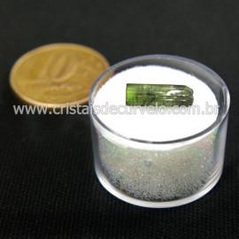 Turmalina Verde Bruta Pedra Natural No Estojo Cod 127666