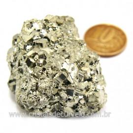 Pirita Peruana Pedra Extra Com Belos Cubo Mineral Cod 124220