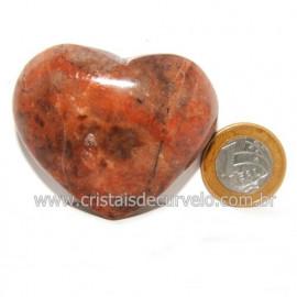 Coração Amazonita Pêssego Pedra Natural de Garimpo Cod 119051