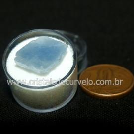 Calcita Azul do Mexico no Estojo Pedra Natural Cod 126648