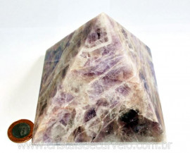 Pirâmide GRANDE Pedra Ametista Chevron Natural Queops cod PG6509