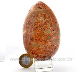Ovo Leopardita ou Jaspe Leopardo Pedra Da Africa Para Colecionador Cod 623.7