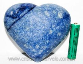 Coração Quartzo Azul Pedra Natural de Garimpo Cod 104637