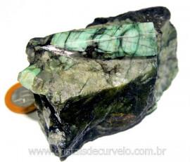 Esmeralda Canudo Incrustado Xisto Pedra Natural Cod CE7708