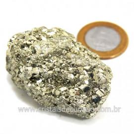 Pirita Peruana Pedra Extra Com Belos Cubo Mineral Cod 124232