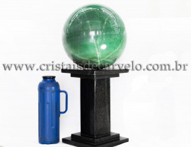 Bola Gigante 37kg Pedra Quartzo Verde Aventurina Cod 109073
