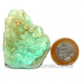 Crisoprasio Bruto Natural Pedra Familia da Calcedonia Cod 123176