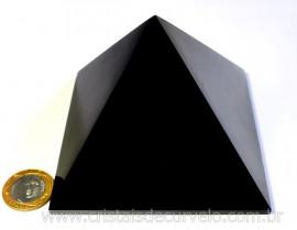 Pirâmide GRANDE Pedra Obsidiana Negra Natural Queops cod PG2074