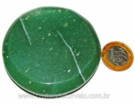 Massageador Disco Quartzo Verde Pedra Natural Cod 103293