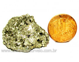 Pirita Natural Pedra Comum Cubos Cor Ouro a Cinza Cod 110264