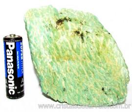 Amazonita Verde Comum Bruto da Família Feldspato Cod 110226