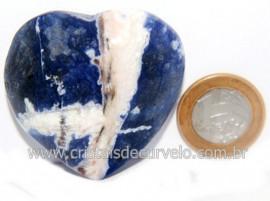 Coração Sodalita Pedra Azul Natural de Garimpo Cod 121272