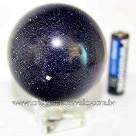 Esfera Pedra Estrela Pigmentado Cintilante Azul Cod 109486