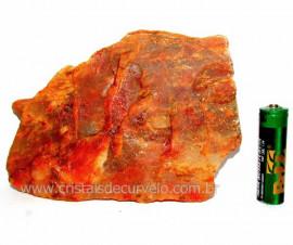 Aragonita Vermelho Pedra Bruto Mineral Natural Cod AV8565