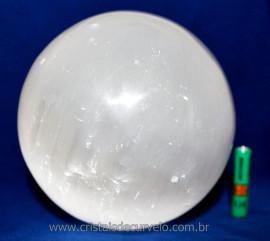 Esfera Selenita Branca Grande Pedra Extra Natural Reff 111283
