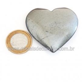 Coração Hematita Pedra Natural Lapidação Manual Cod 121744
