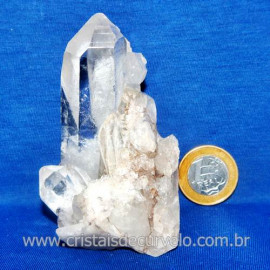 Drusa Cristal Pedra Quartzo Natural Boa Qualidade Cod 123634