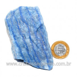 Quartzo Azul ou Aventurina Azul Bruto Natural Cod 123189