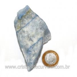 Quartzo Azul ou Aventurina Azul Bruto Natural Cod 123184