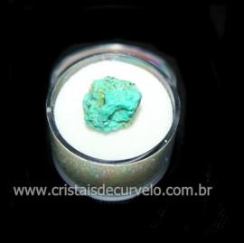 Crisocola Bruto Lasca No Estojo Mineral Natural Cod 118518
