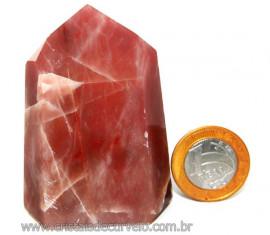 Ponta Aragonita Roxa Pedra Natural de Garimpo Cod PA7447