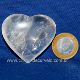 Coração Cristal Comum Qualidade Natural Garimpo Cod 126245