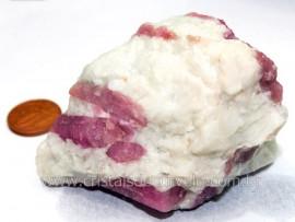 Turmalina Rosa ou Vermelha Pedra Pequena e Cor Extra Para Exoterismo Cod 202.7