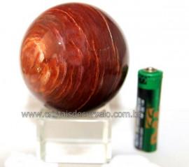 Esfera Quartzo Vermelho Natural Bola Lapidado Cod EV9433
