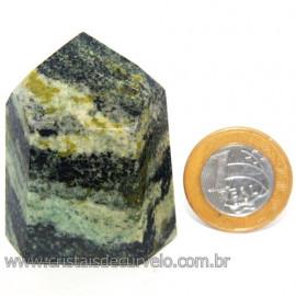 Ponta Pedra Quartzo Brasil Natural Gerador sextavado 113878