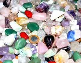 Pedra Rolado GRAUDA Pacote MISTO Comum 1kg Varias Desde Cristal Verde Rosa Agata Etc...