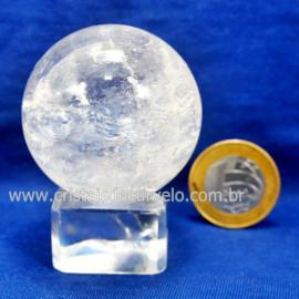 Bola Cristal Boa Qualidade Esfera Pedra Natural Cod 127556